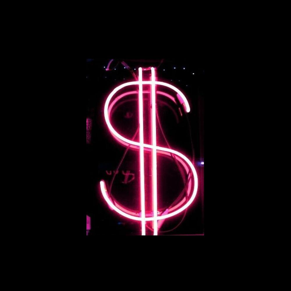 Pink Dollar Sign Neon Light Pink Neon Sign Pink Neon Wallpaper Pink Wallpaper Iphone