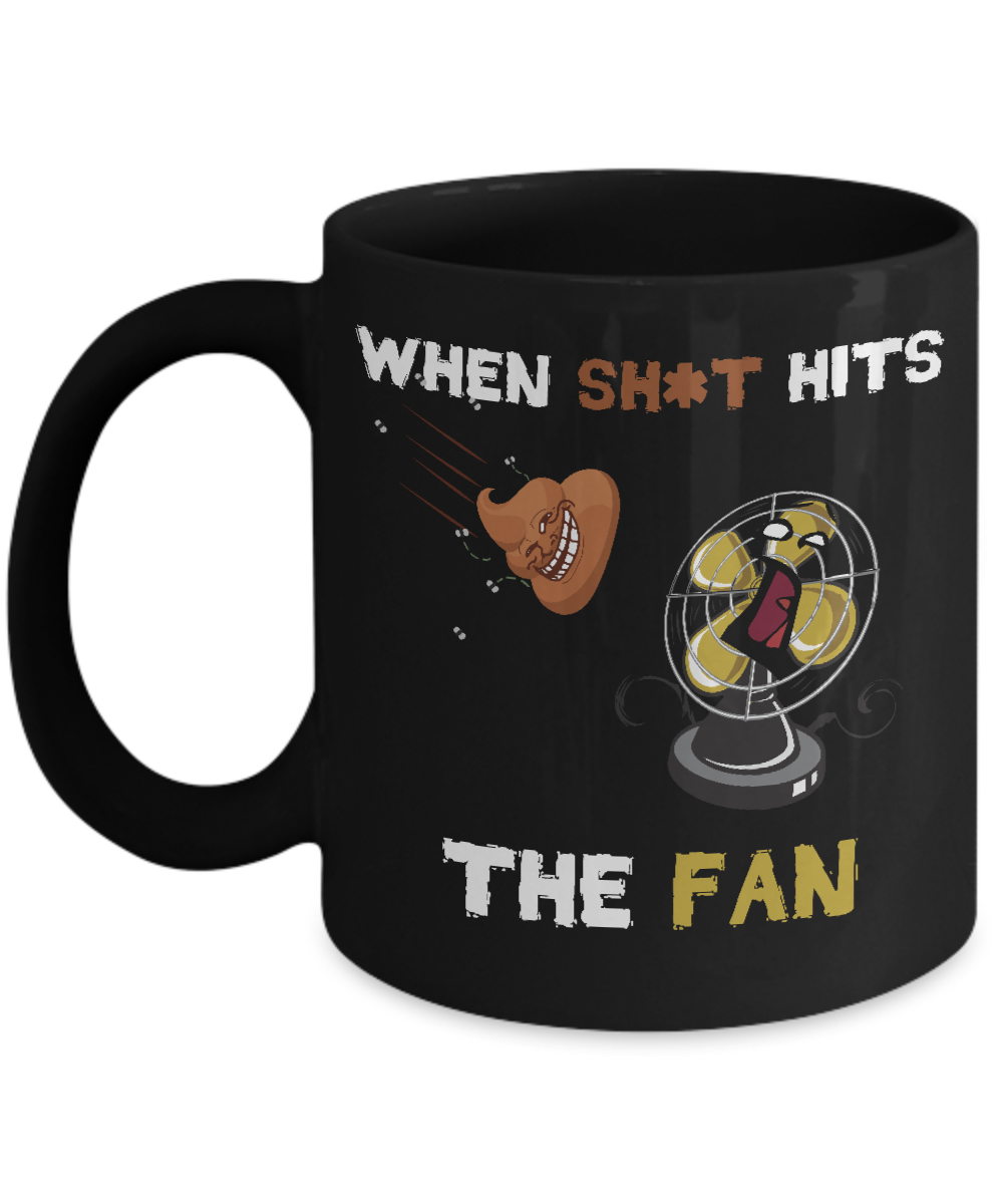 When Shit Hits The Fan idiom is literally illustrated