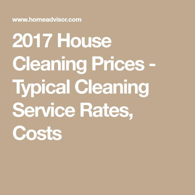 house cleaning price