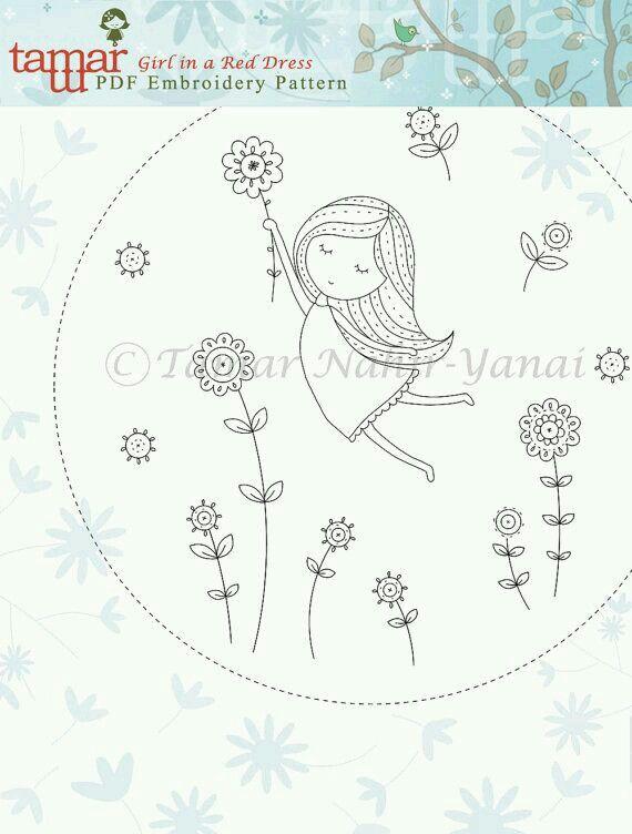 Menininha | Embroidery | Pinterest | Bordado, Patrones para bordar ...