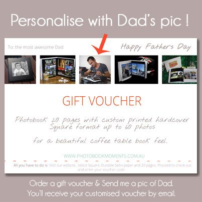 Father's Day ! http://photobookmoments.com.au/products/fathers