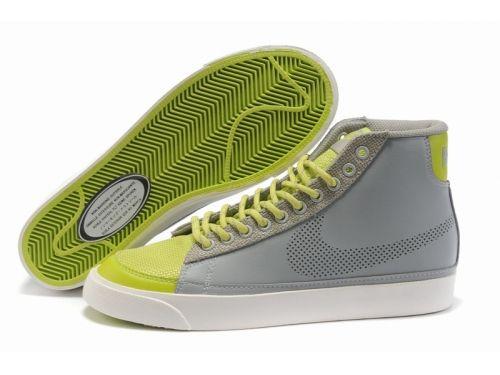 ナイキ Nike ウーメンズ ブレザー ハイレザー グレー グリーン Nike0719