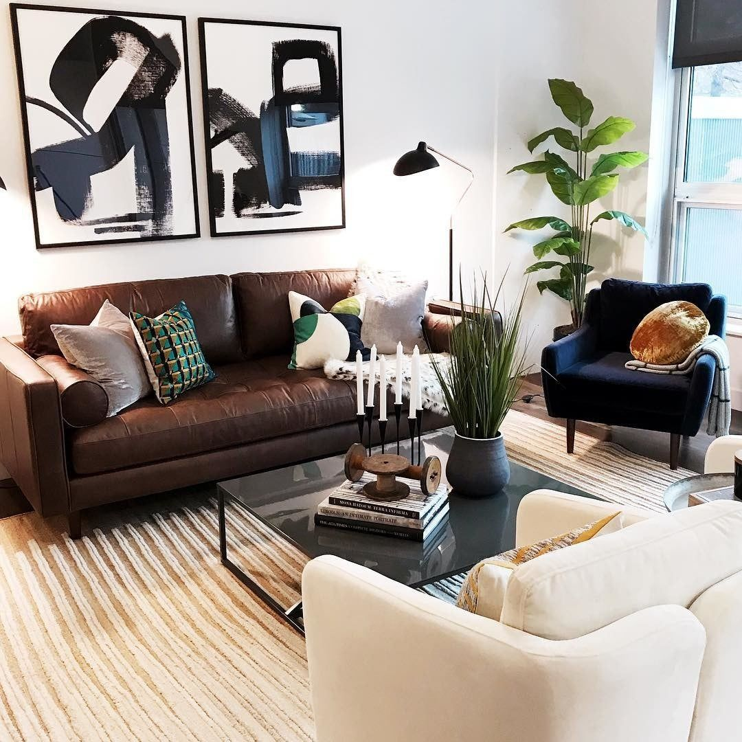 Matrix Cascadia Blue Chair In 2020 Brown Sofa Living Room Brown Leather Sofa Living Room Brown Leather Couch Living Room