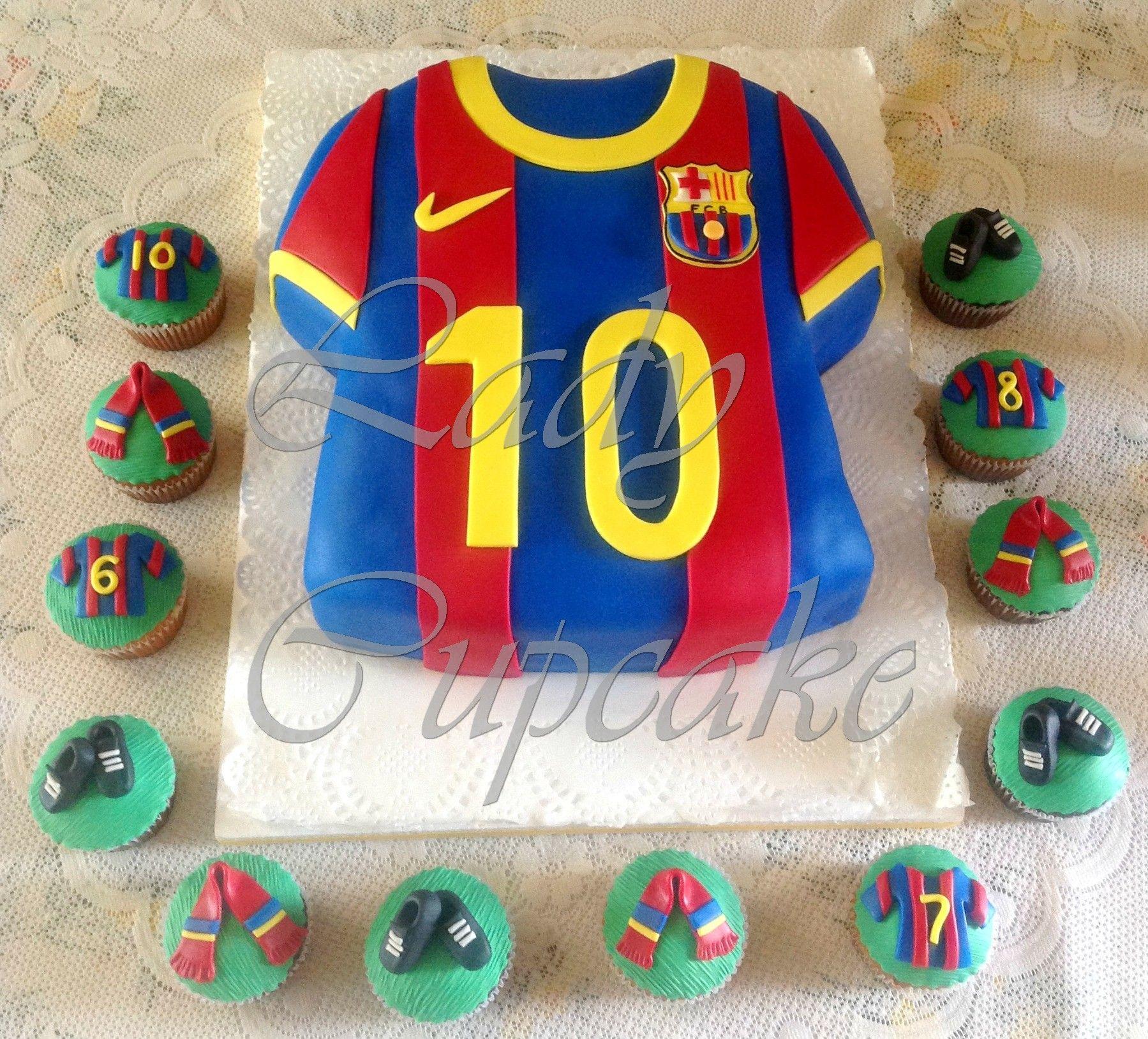 Camiseta del Barcelona y Cupcakes. | Tortas | Cupcakes ...