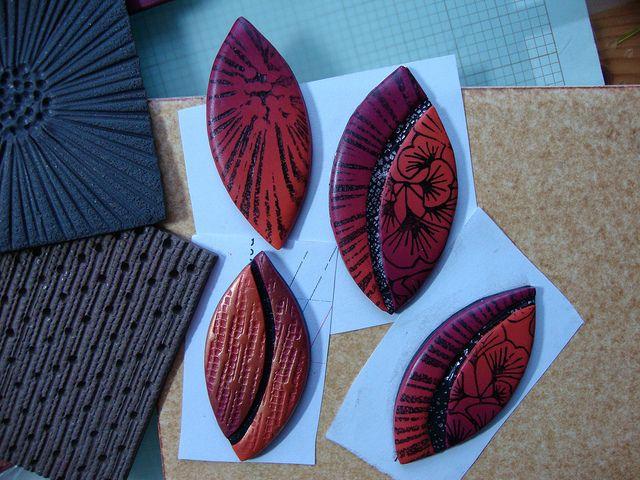 Home made texture sheets from Helen Breil tutorial.