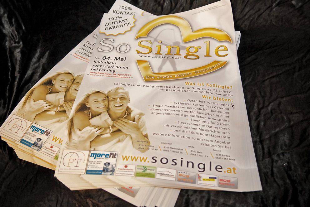 250 Plakate für unsere Singleparty Werbung