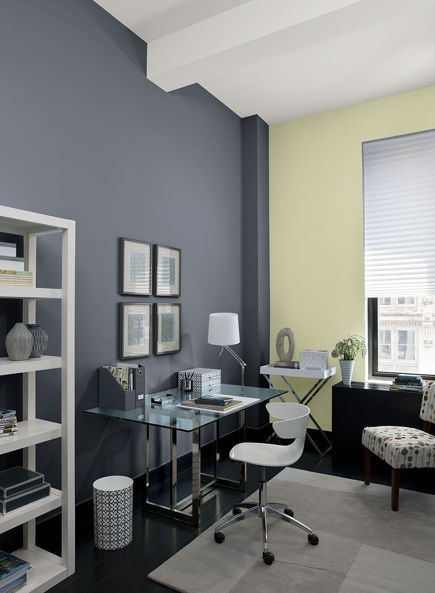 office wall color. Urban Home Office! Wall Color: Eclipse - Accent Rainforest Dew Ceiling Cotton Balls Office Color Pinterest