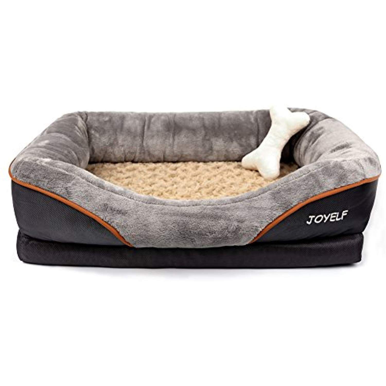 Joyelf Memory Foam Dog Bed Medium Orthopedic Dog Bed And Sofa With