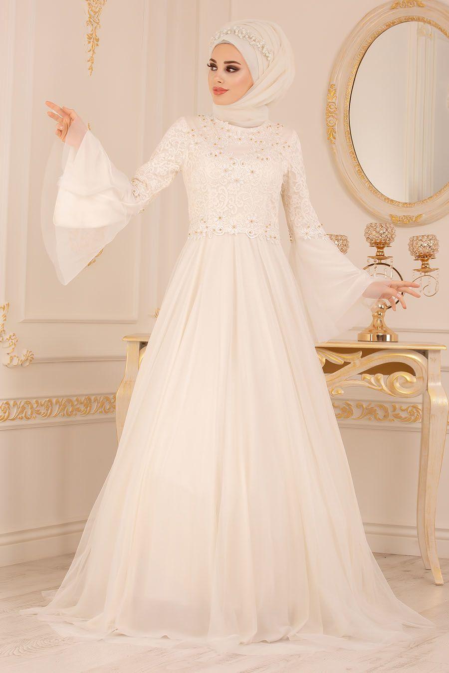 Tesetturlu Abiye Elbise Volan Kol Dantelli Ekru Tesetturlu Abiye Elbise 20571e Tesetturisland Com The Dress Elbise Dugun Nedime Giysileri