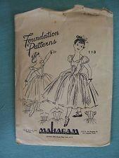 VERY Vtg FOUNDATION Pattern #113 Childs Romantic Ballet Dress Ballerina  6 Yrs