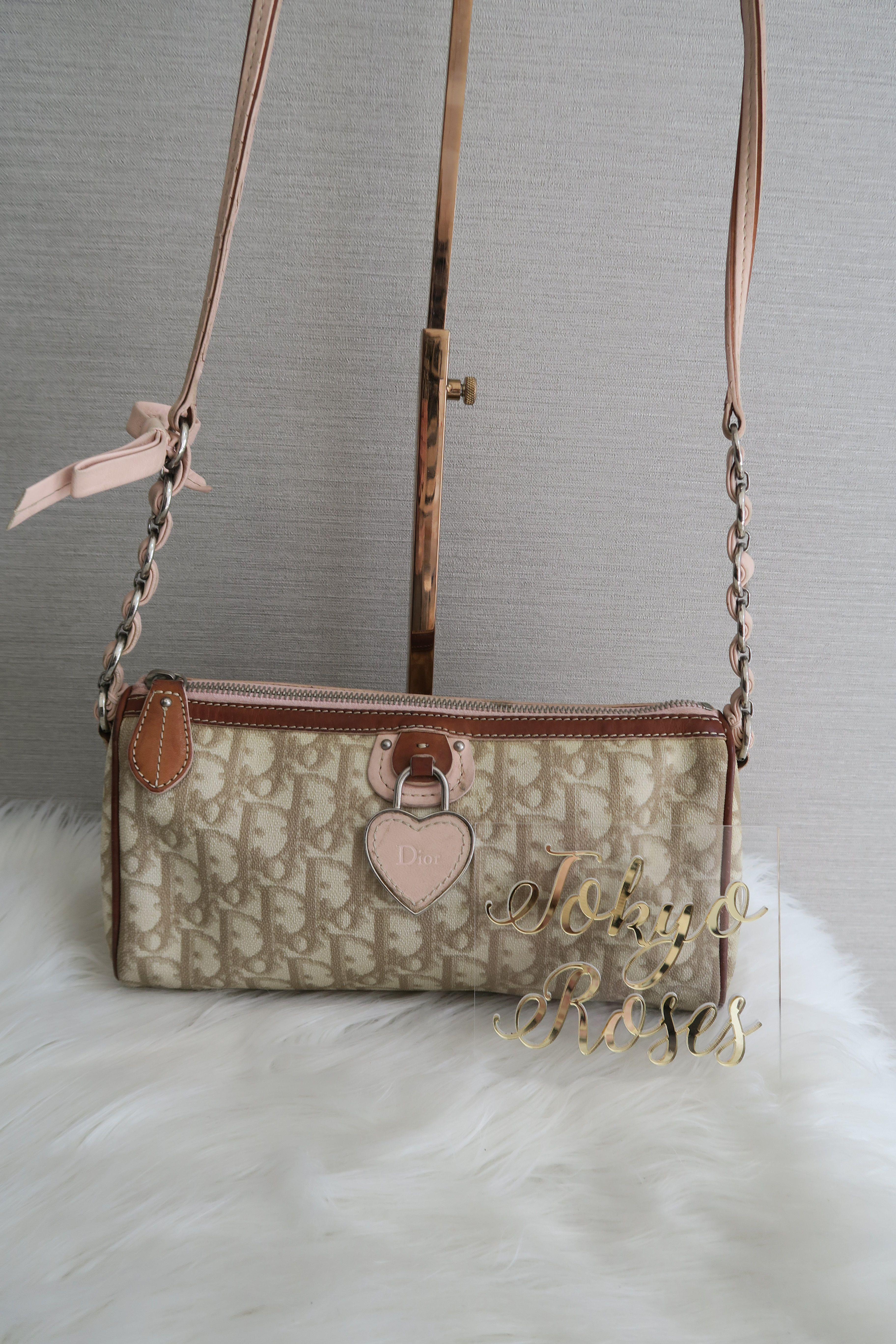 0e66d83761 Christian Dior Romantique Crossbody Trotter Oblique Logo Monogram Print  Handbag