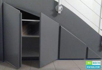 je vous propose de r aliser un placard sous escalier sur. Black Bedroom Furniture Sets. Home Design Ideas