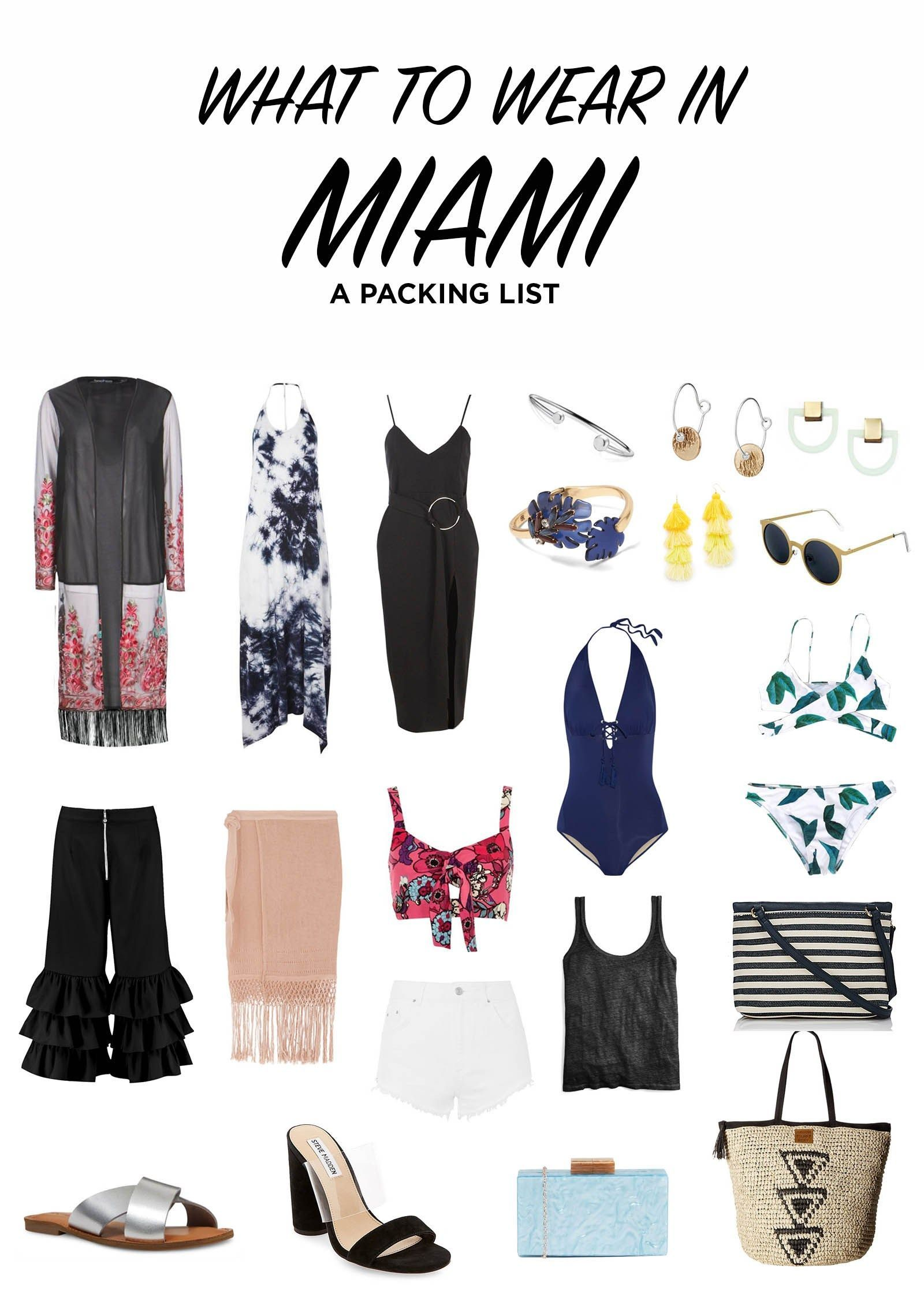 What To Wear In Miami: A Complete Outfit Packing List // This packing list creates