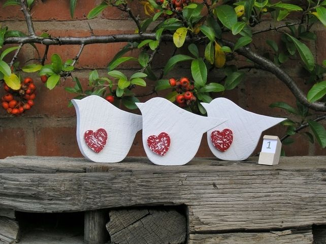 Single Robin made from Reclaimed (Design No. 1) £3.25