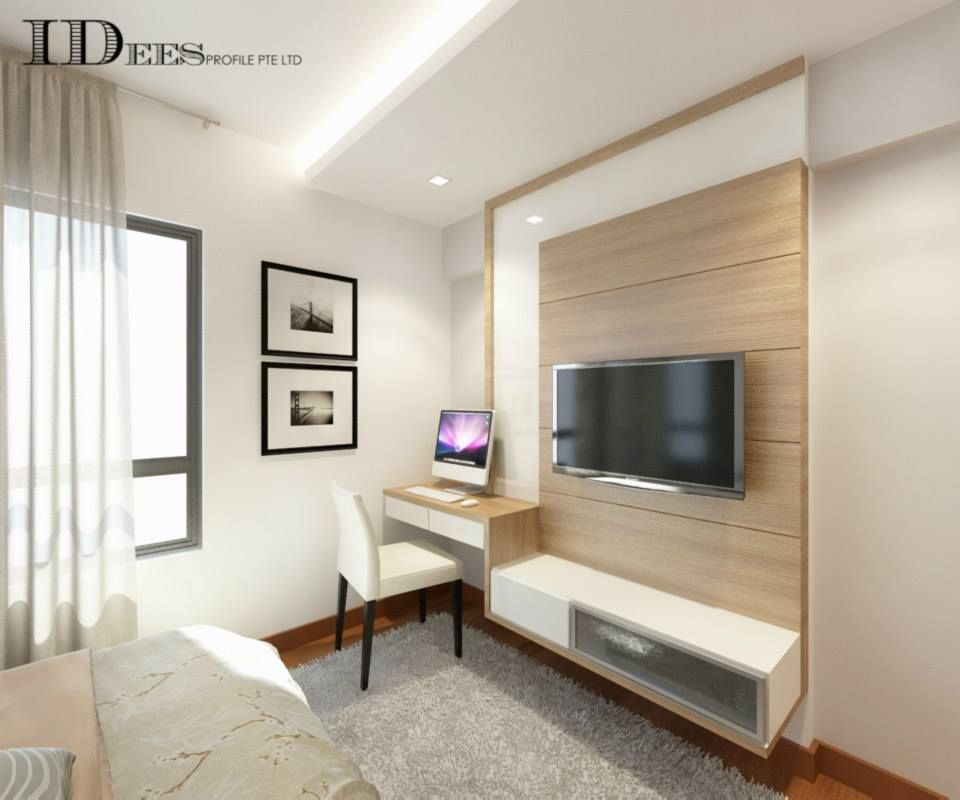 Study hdb dbss parkland residences interior design singapore dbss pinterest singapore Master bedroom tv wall unit