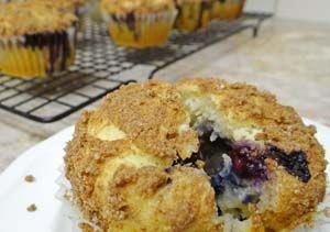 Gluten Free Blueberry Streusel Muffins Recipe (Sugar-Free): http://glutenfreerecipebox.com/gluten-free-blueberry-muffins-streusel-topping/