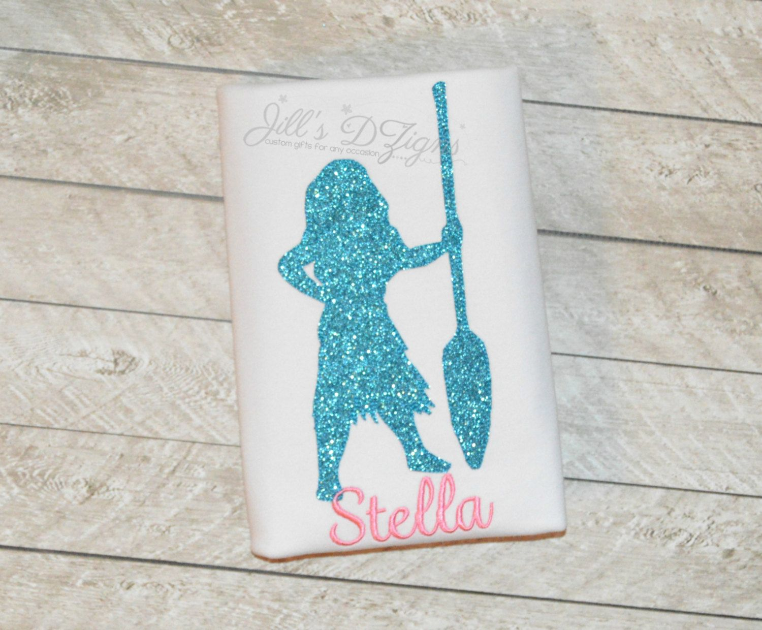 Shirt design card - Disney Princess Moana Hawaii Princess Shirt Or Onesie Yellow Glitter With Number And Name Any Princess Simple And Sweet Silhouette