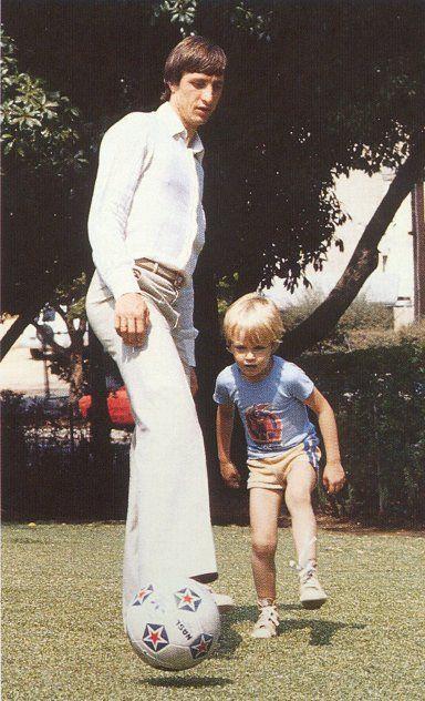 Johan Cruyff y su hijo Jordi.