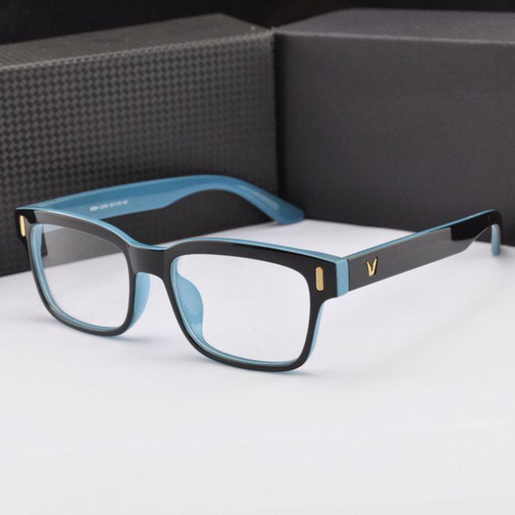 572eed9059d6 Fashion V-Shaped Box Eye Glasses Frames Brand For Men New Women Computer  Frames Eyewear Vintage Armacao Oculos De Grau