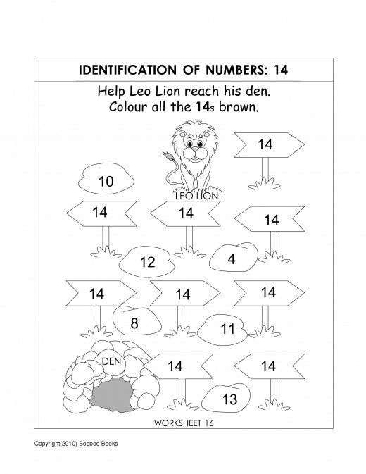 Worksheets Free Number Recognition Worksheets number recognition worksheets activities numbers 14 activities