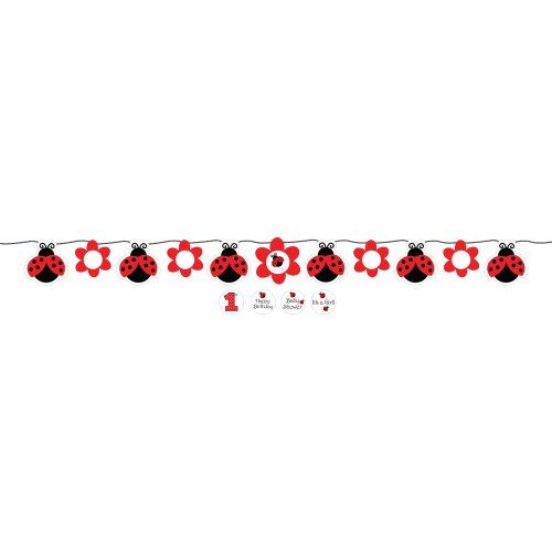 Creative Converting Ladybug Fancy Circle Ribbon Party Banner with Stickers $5.58 (save $1.17)