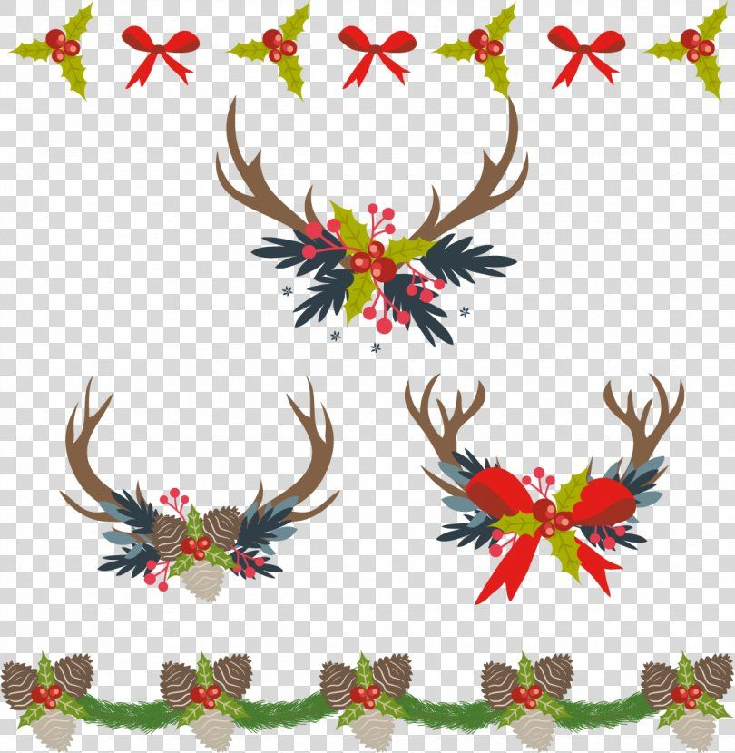 Christmas Decoration Computer File Retro Christmas Border Png Christmas Antler Branch Christmas Decoration Christmas Border Retro Christmas Computer File