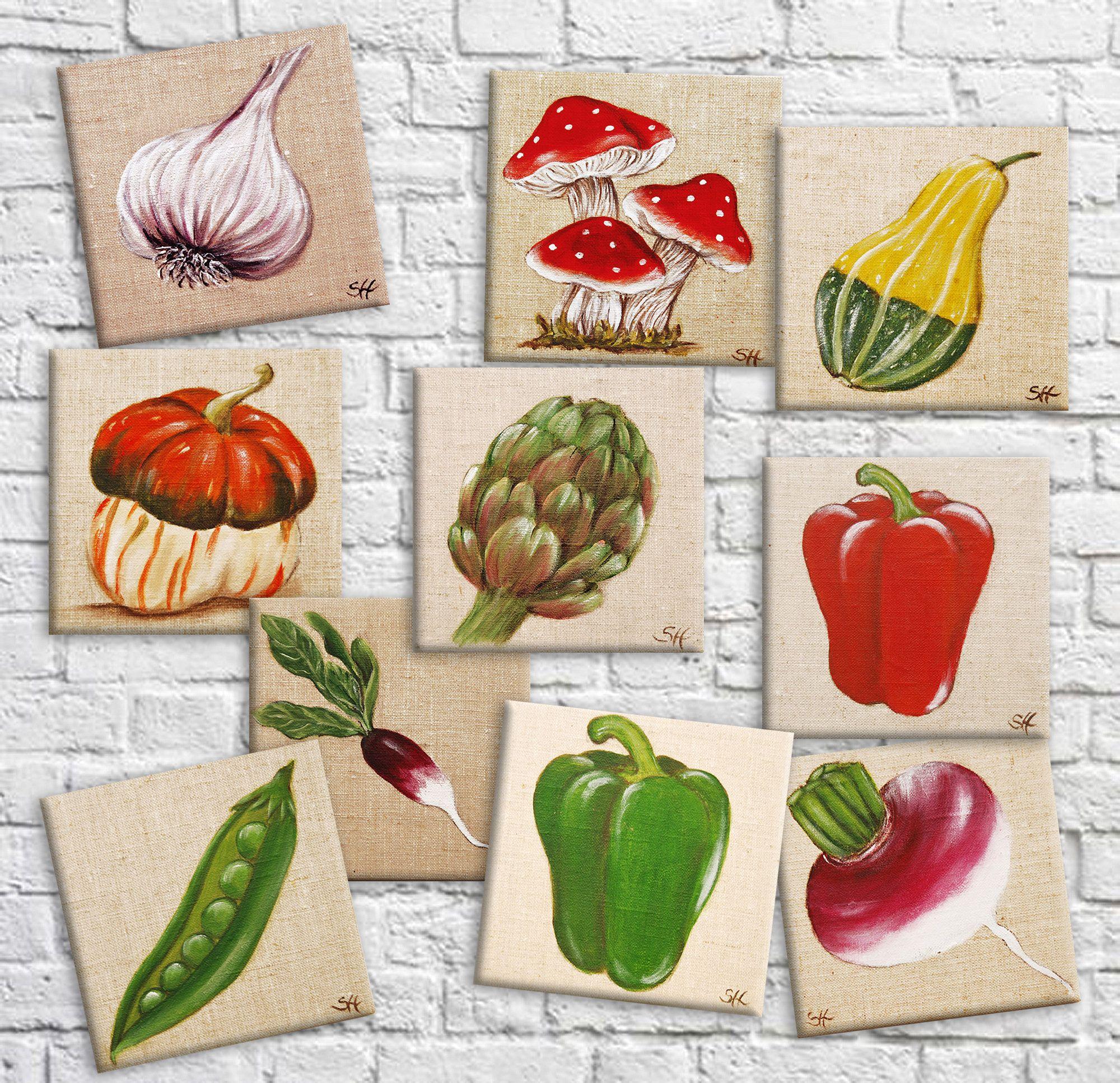 Tableau légume bio décoration cuisine kitchen thème potager