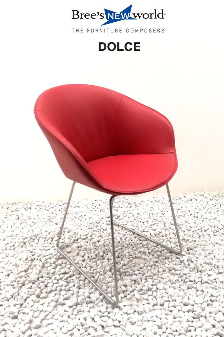 Kuipstoel Dolce in het rood. #eetkamerstoel #eetkamer #woonkamer ...