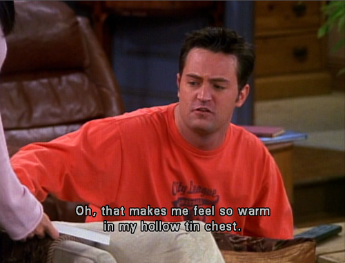 Image result for it make me feel so warm in my hollow friends chandler