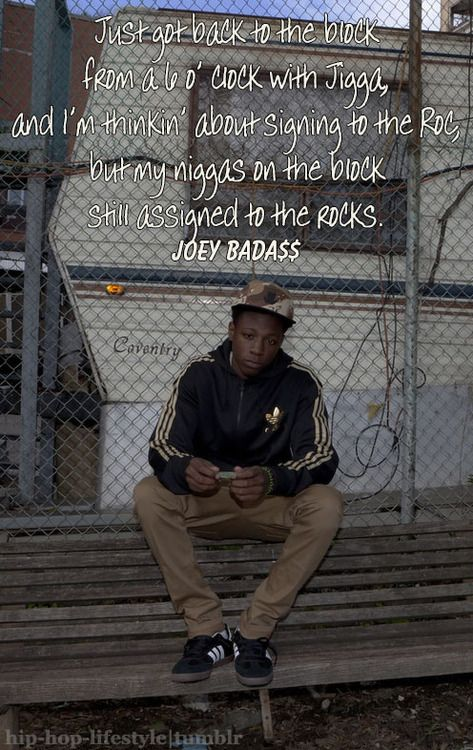 Joey Badass | Hip hop, Artist quotes, Music is my escape