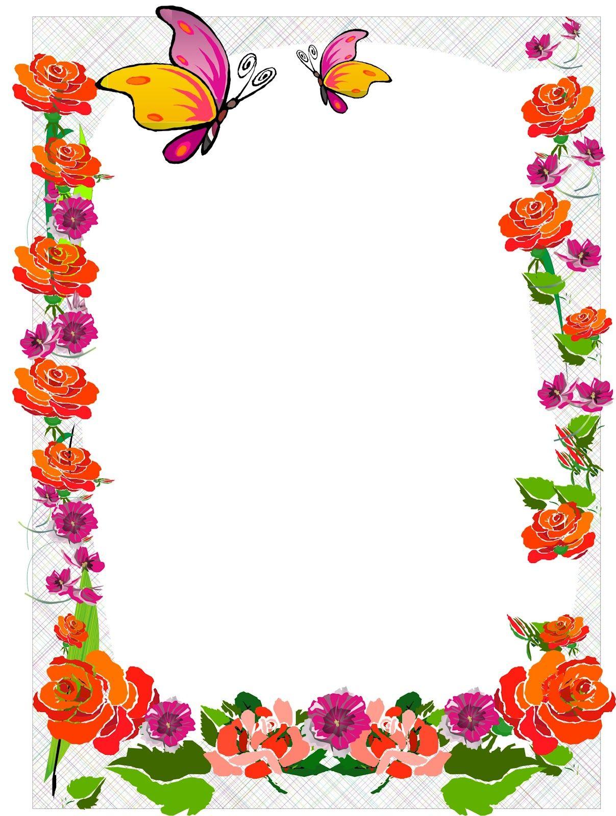 Borders for kid dise o grafico primavera de la vida - Marcos decorativos ...
