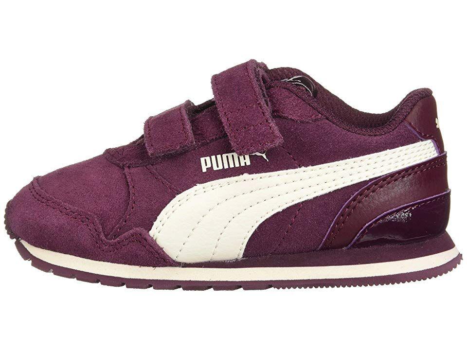 76304dd068 Puma Kids ST Runner v2 SD V (Toddler) Girl's Shoes Fig/Whisper White ...