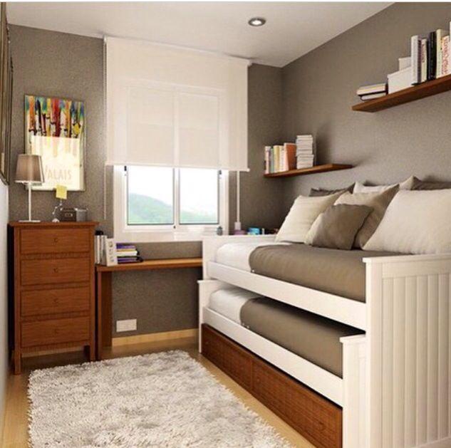 Youth Bedroom Sets For Boys Pony Bedroom Accessories Bedroom Curtains Modern Bedroom Colors 2016: Ideias Para Quartos Pequenos