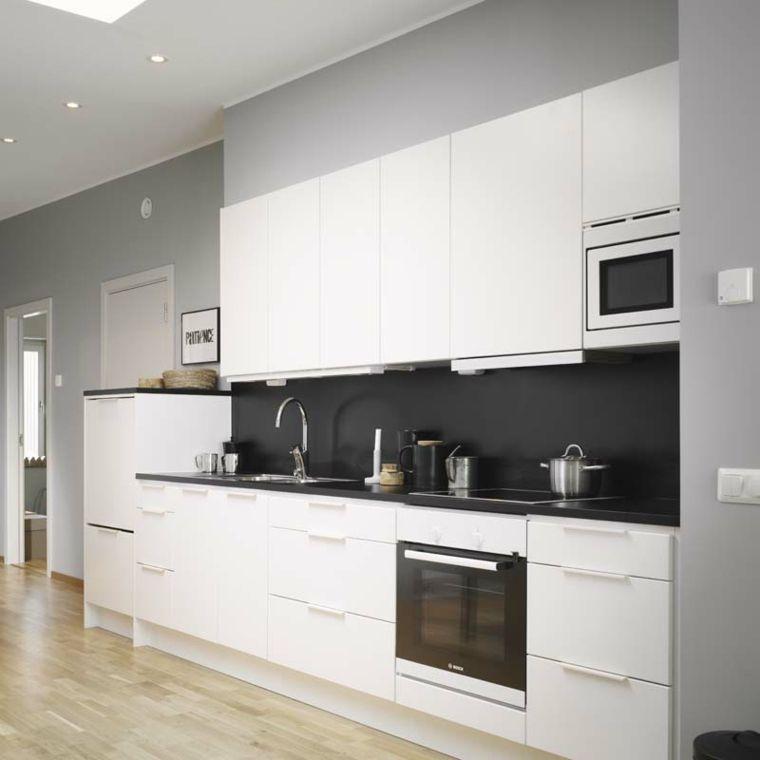 Cocinas Pequenas Con Muebles Blancos.Cocinas Blancas Y Grises Los 50 Disenos Mas Actuales