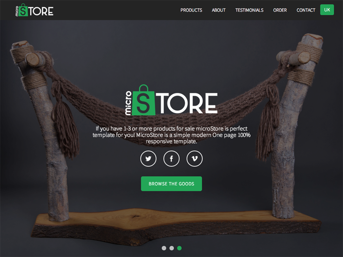 microStore - OnePage ecommerce Theme - Bootstrap themes marketplace