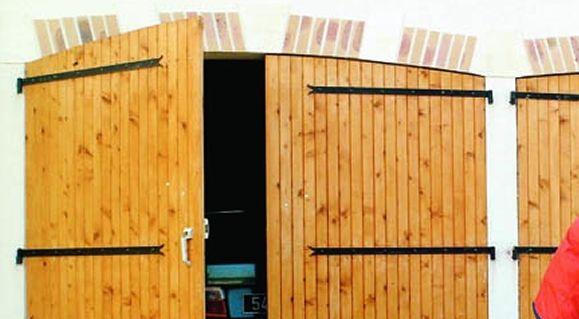 Porte De Garage Vantaux Mm Bois Du Nord Porte Garage - Porte de garage bois 2 vantaux