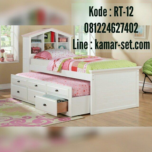 Tempat Tidur Sorong Laci Price 4 800 000 Free Ongkir Jawa Bali Dipansorong Tempattiduranak Girls Trundle Bed Trundle Bed With Storage Kids Twin Bed