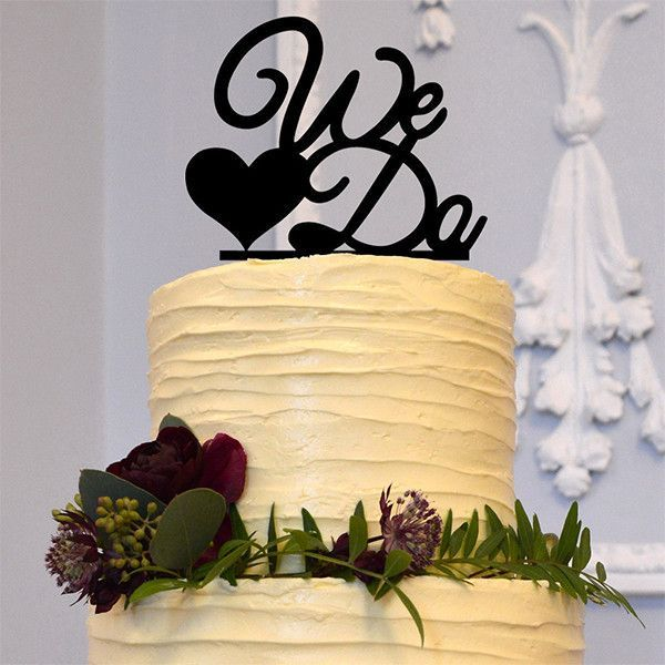 Wedding Cake Topper /Anniversary Cake Decoration (We Do /Love /Heart ...