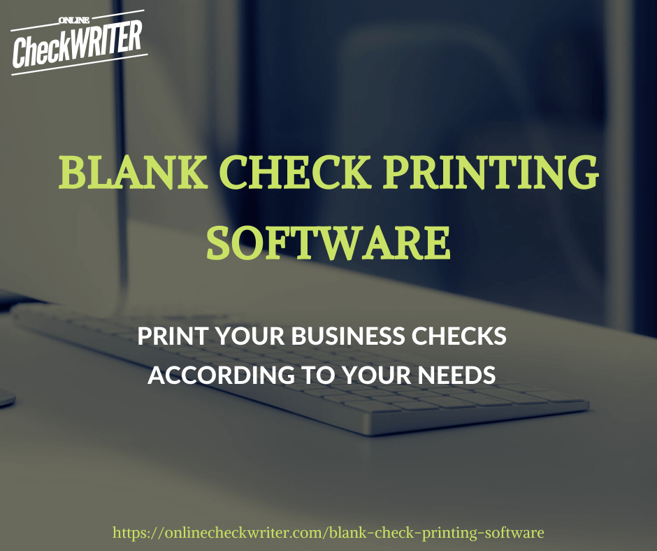 Blank Check Printing Software Online Check Writer Blank Check Online Blank Check Printing Software Online Checks