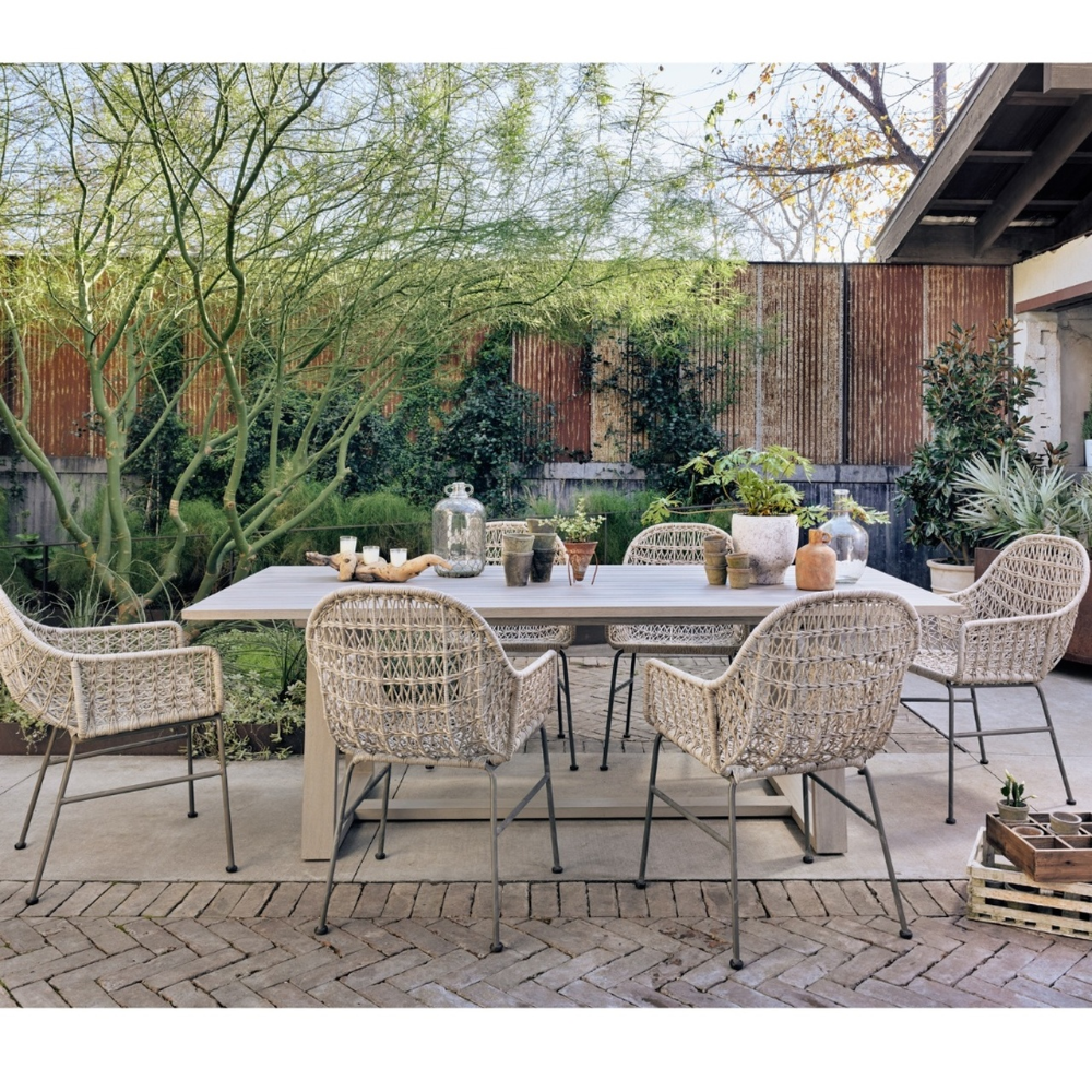 Atherton Grey Teak Outdoor Dining Table 87 In 2020 Backyard Dining Beautiful Outdoor Spaces Outdoor Dining