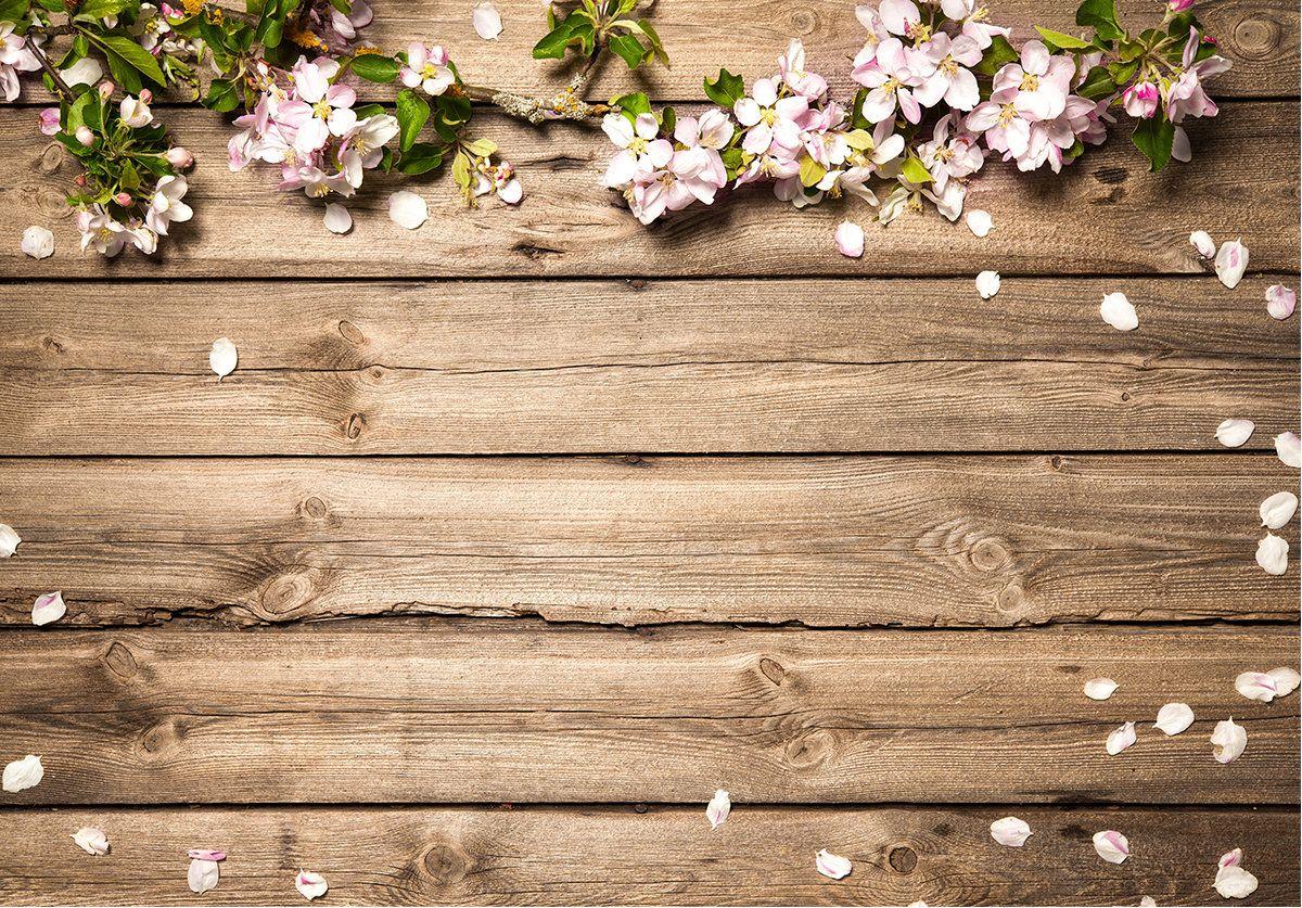 Rustic wedding flowers brown wood floor backdrops spring - Rustic background ...