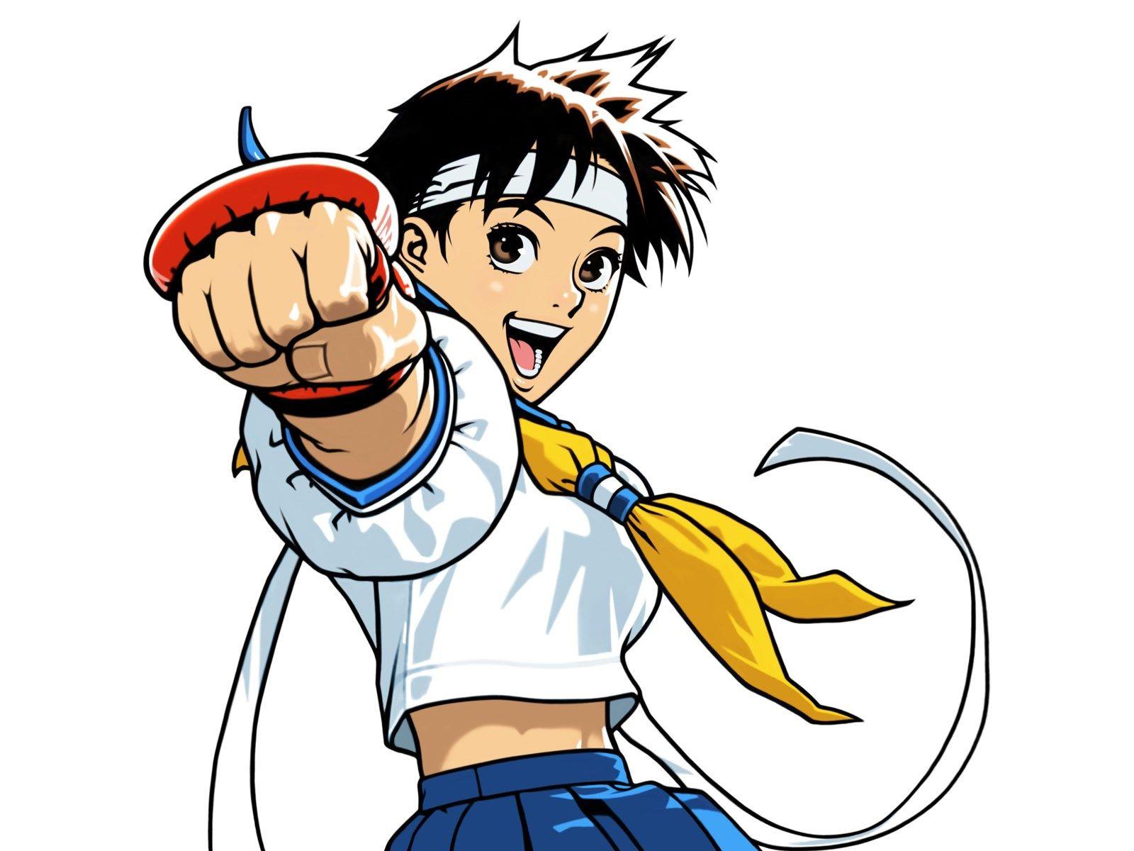 Wallpaper Desktop Sakura Kasugano Street Fighter Girls Pinterest