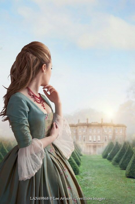 4e339383046 Lee Avison HISTORICAL WOMAN LOOKING AT DISTANT HOUSE Women