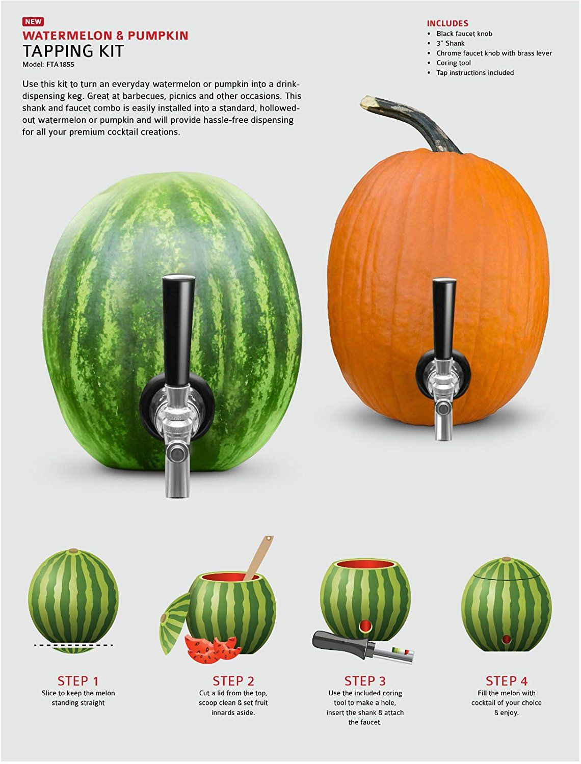 How to make a watermelon/pumpkin punch keg. Find tapping kit here ...