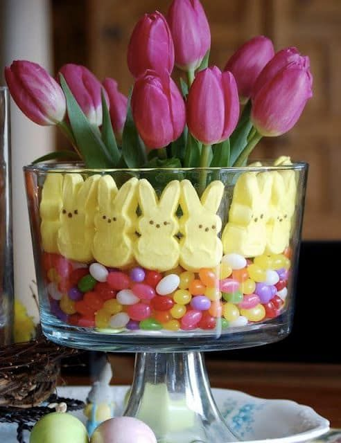 Easy Centerpieces for Your Easter Table #hoppyeaster
