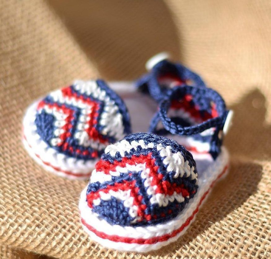 Best crochet baby sandals!   zapatitos, botas y pantuflas ...