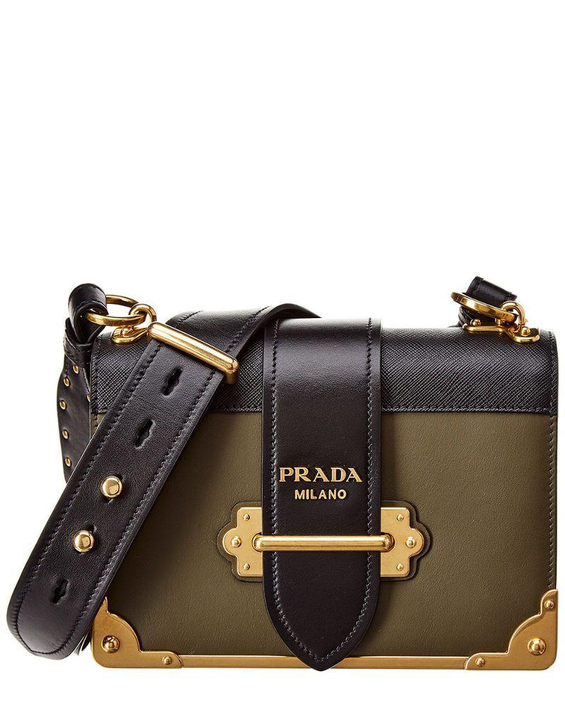 662e1c4b4ff5 Prada Cahier Leather Shoulder Bag