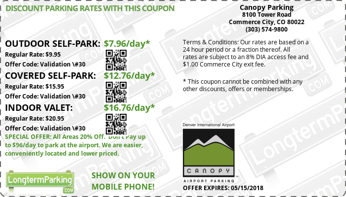 Canopy Parking Denver Airport Den Airport Parking Coupon From Longtermparking Com Airport Parking Coupons Travel For A Year