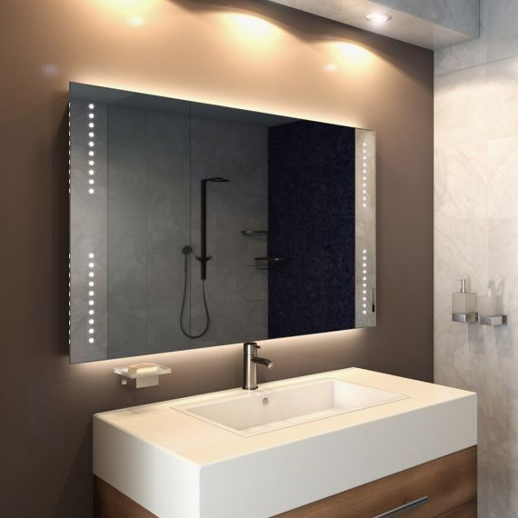 Star Wide Led Light Bathroom Mirror Bathroom Mirror Lighted Bathroom Mirror Mirror