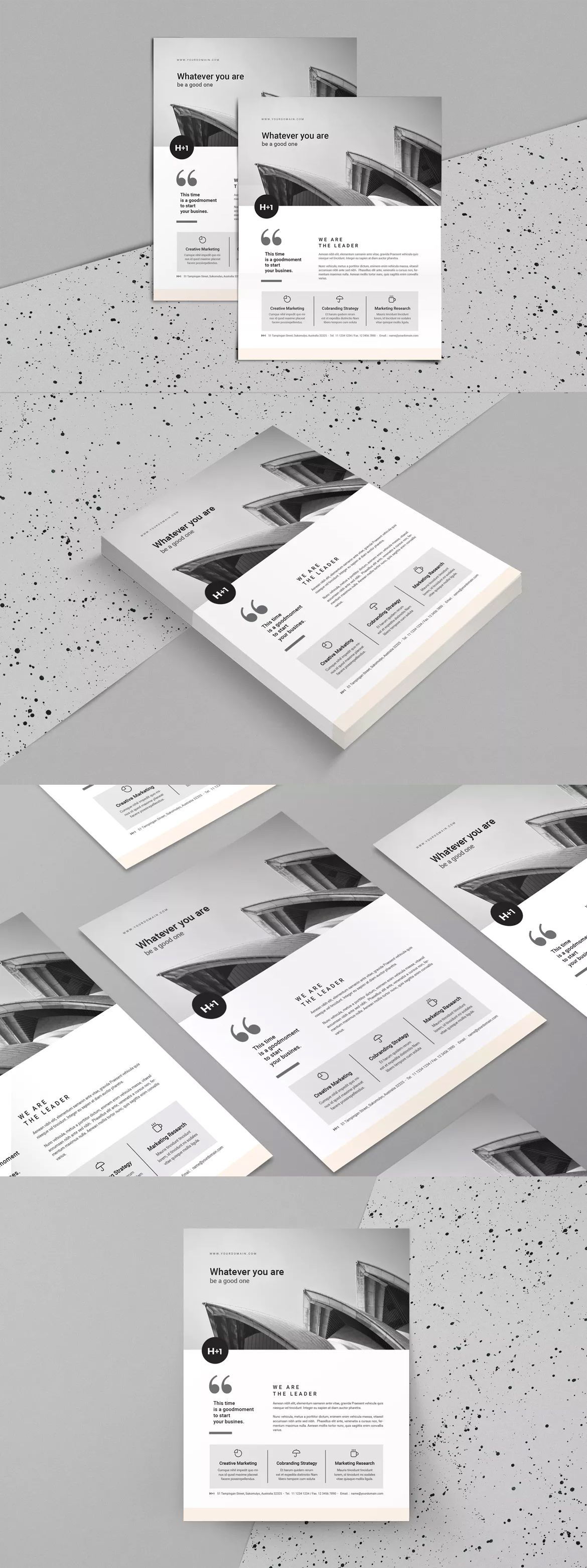 Flyer Template InDesign INDD A4 and US Letter SIze | Flyer Templates ...